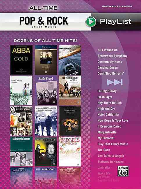 All-Time Pop & Rock Sheet Music Playlist By Alfred Publishing (COR)